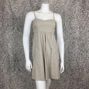 6b8a765771 Theory Cream Linen Babydoll Mini Dress Size 0